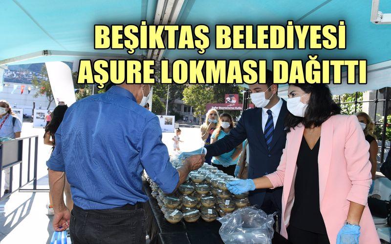 Beşiktaş Belediyesi, vatandaşlara aşure lokması dağıttı
