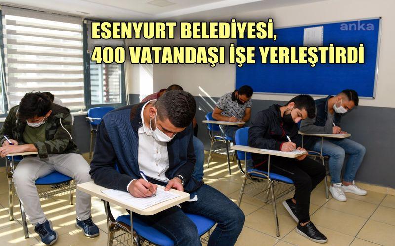 Esenler Belediyesi 400 vatandaşı işe yerleştirdi