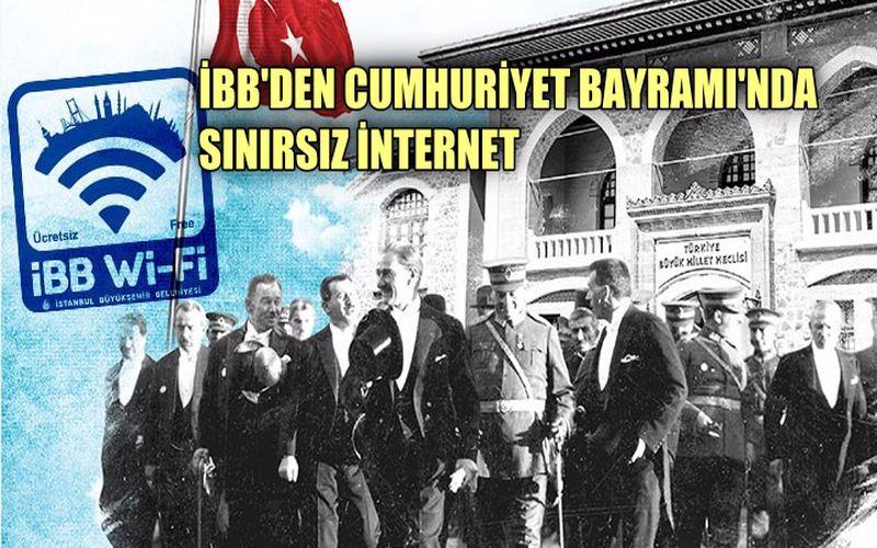 İBB'den Cumhuriyet Bayramı'nda sınırsız internet