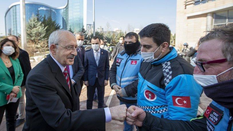 Kılıçdaroğlu, motokuryelerle görüştü: Her zaman kapımızı çalabilirsiniz