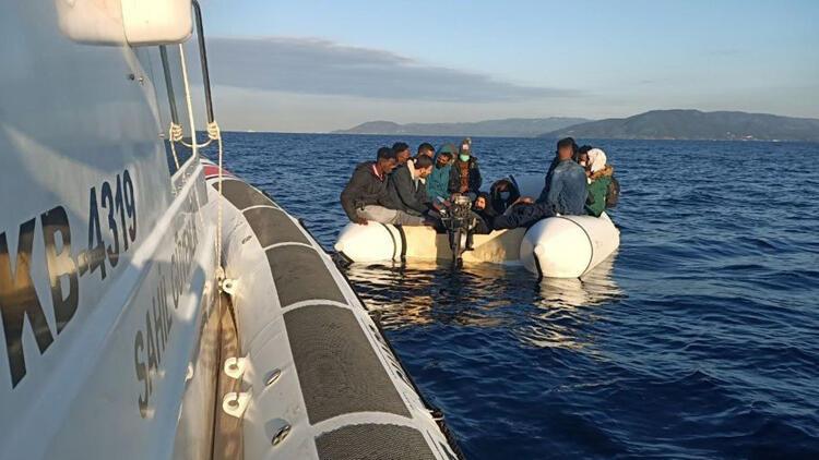 17 düzensiz göçmeni, Türk Sahil Güvenliği kurtardı