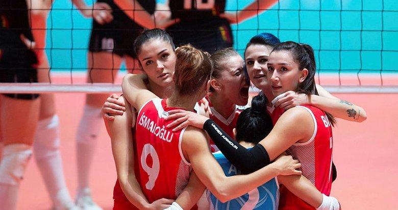 A Milli Kadın Voleybol Takımı, Avrupa Şampiyonası'nda yarı finalde