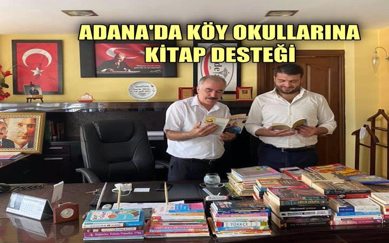 Adana'da köy okullarına kitap desteği