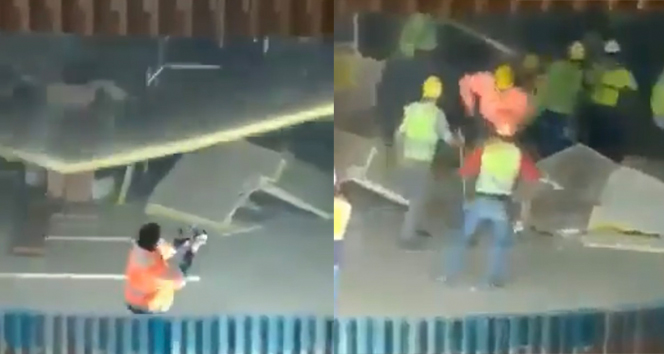 AKM inşaatında asma tavanın çöktü: 4 işçi yaralandı