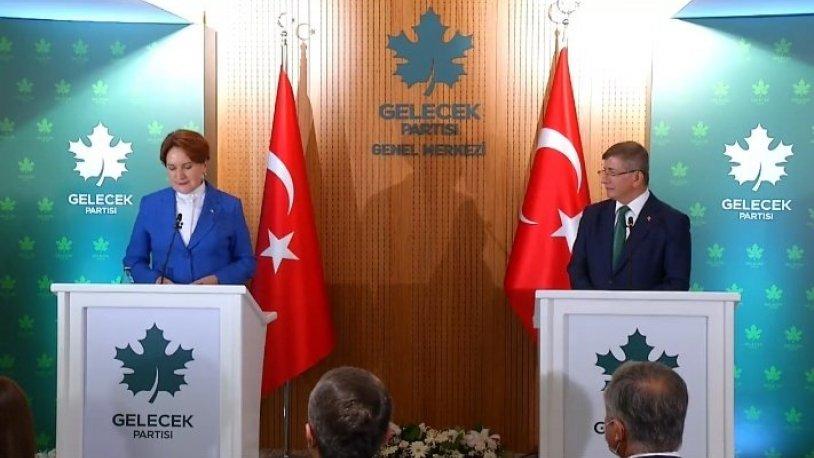 Akşener ve Davutoğlu'ndan ortak 'cumhurbaşkanı adaylığı' açıklaması