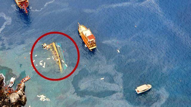 Alanya'da içinde 30 turistin bulunduğu tekne alabora oldu: 1 ölü