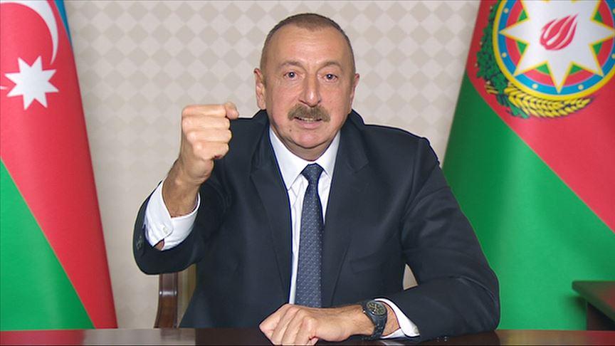 Aliyev: Dağlık Karabağ'daki savaşı durdurmaya hazırız
