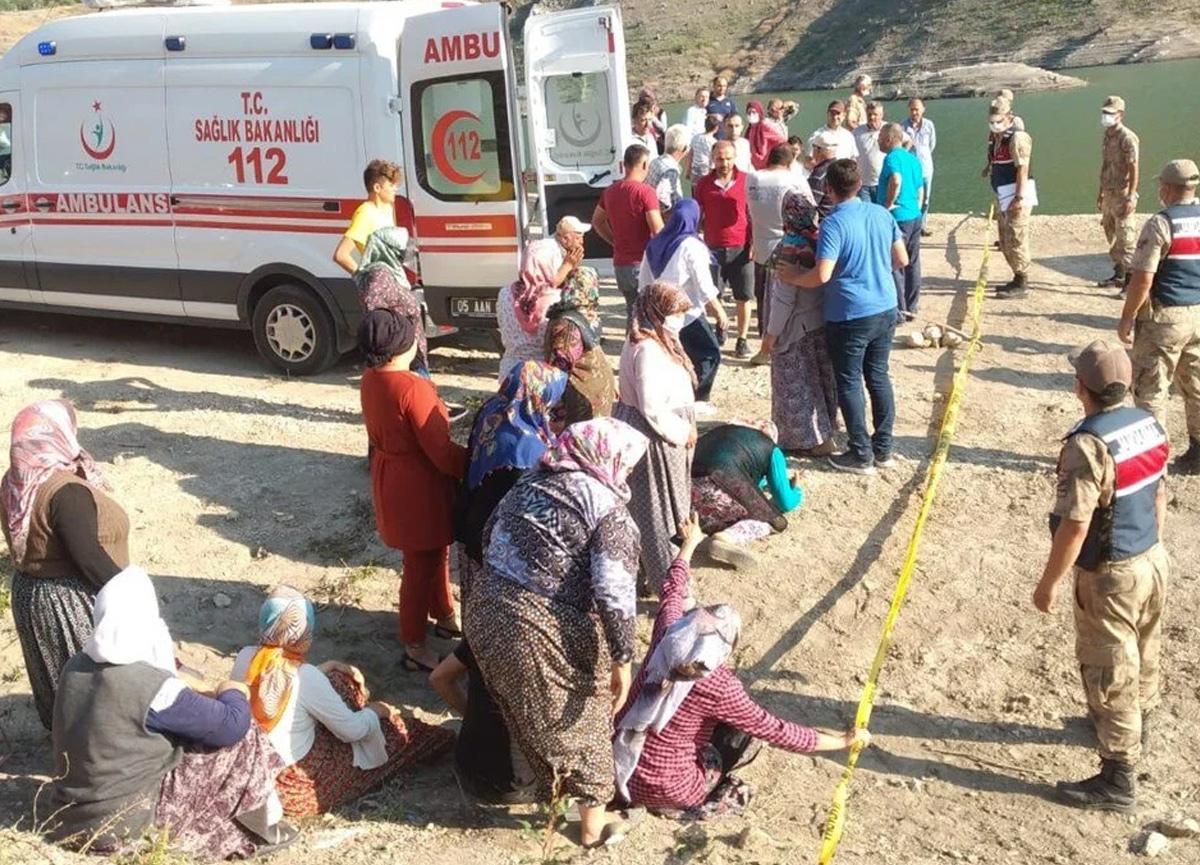 Amasya'da beş kişilik aile gölette boğuldu