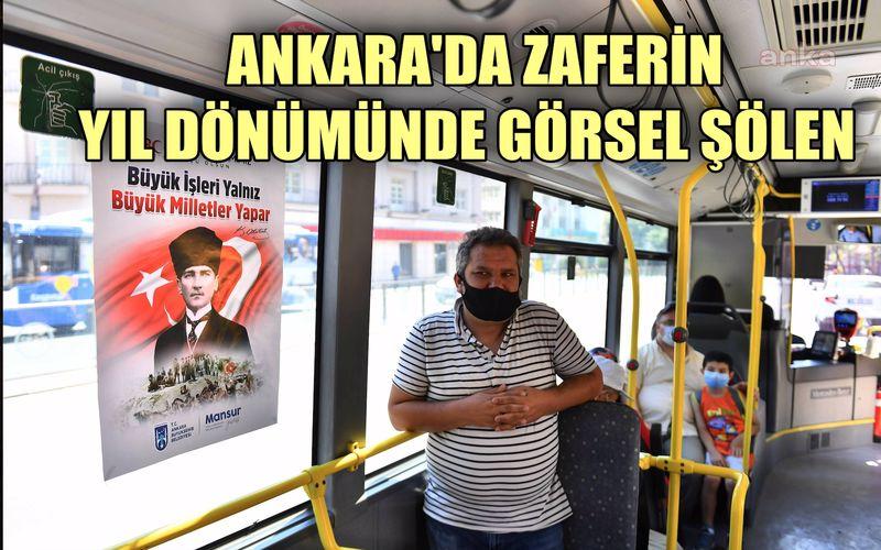 Ankara Büyükşehir'den büyük zaferin yıl dönümünde görsel şölen