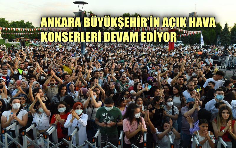 Ankara Büyükşehir'in açık hava konseri devam ediyor