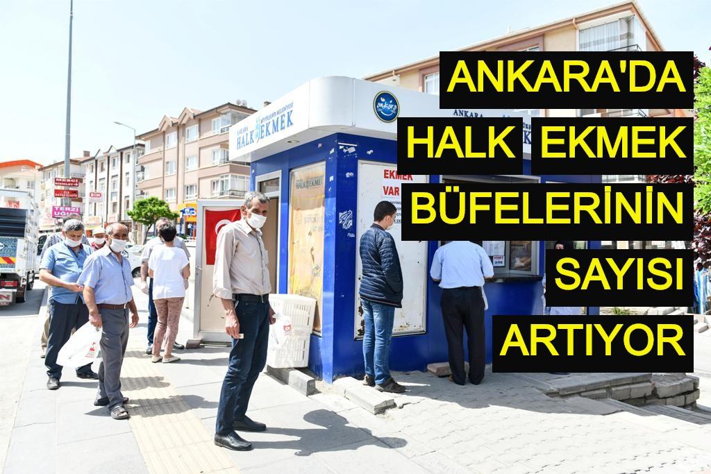 Ankara'da Halk Ekmek büfelerinin sayısı artıyor