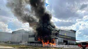 Ankara Organize Sanayi Bölgesi'nde yangın