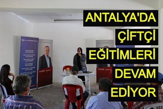 Antalya'da çiftçi eğitimleri devam ediyor