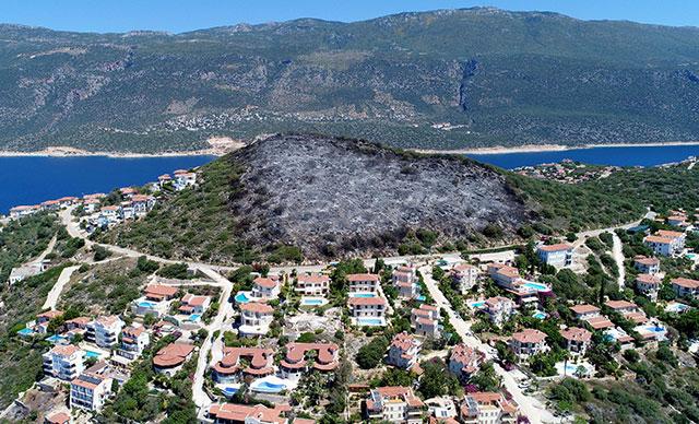 Antalya'da 'tam otellik yanan' yer imara açıldı