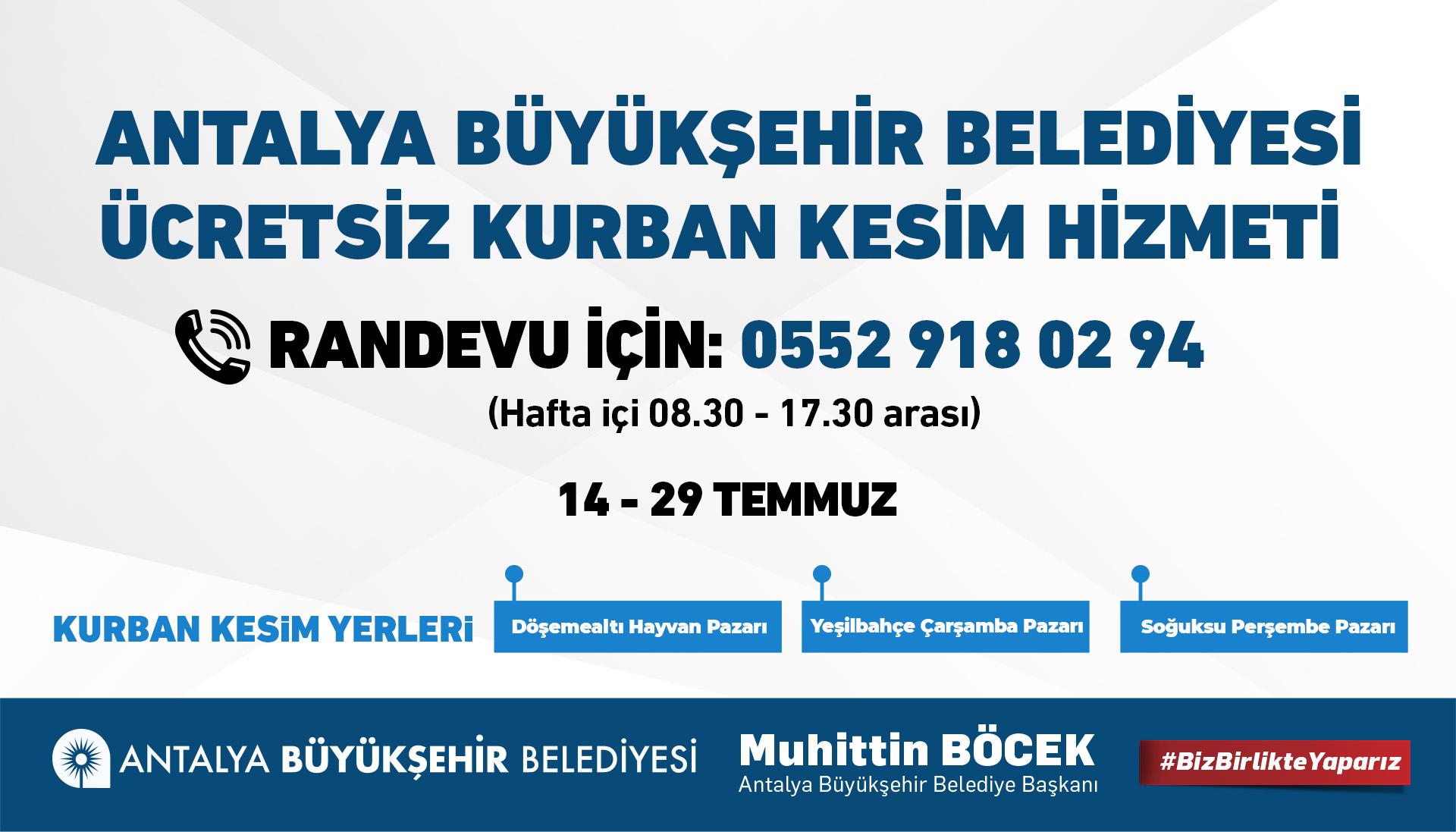Antalya, kurban kesim yerlerini belirledi