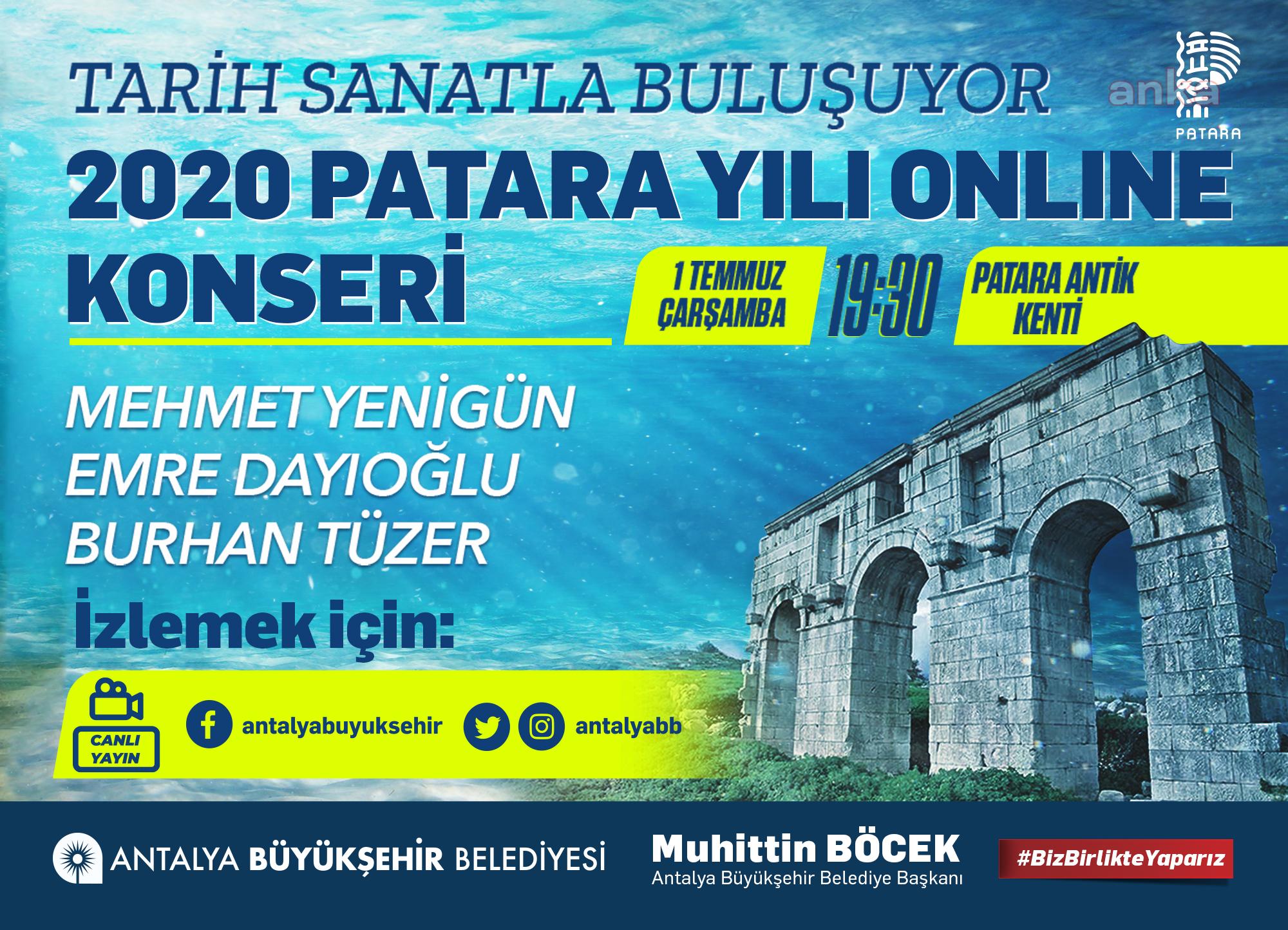 Antalya Patara Antik Kenti'nde online konser