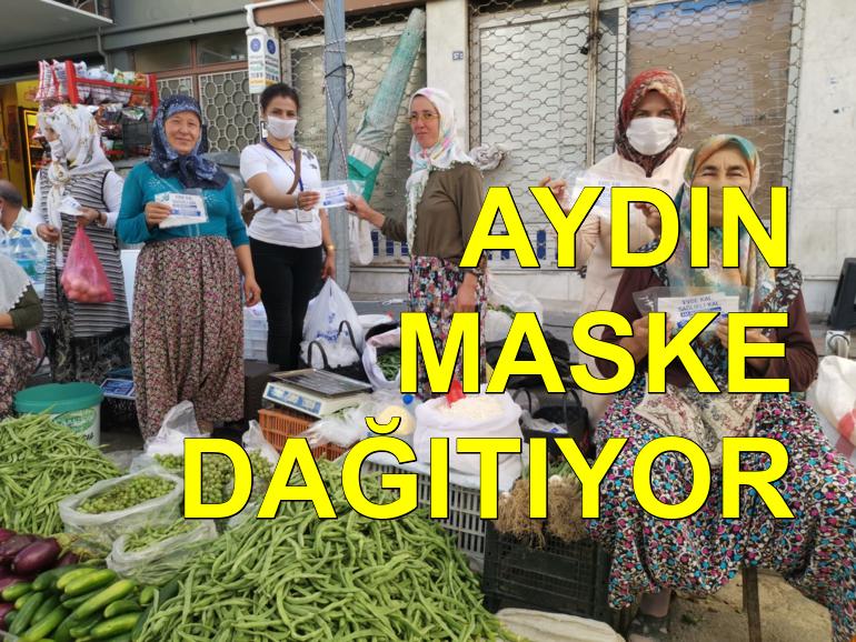 Aydın Büyükşehir Belediyesi ücretsiz maske dağıtıyor
