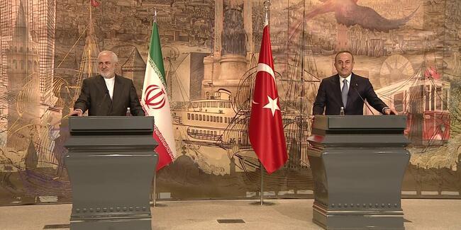 Bakan Çavuşoğlu ile Cevad Zarif'ten ortak açıklama