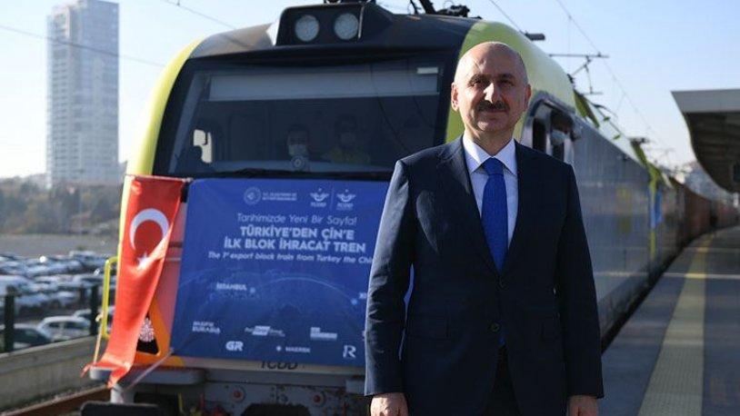 Bakandan 'Çin'e giden' trenle ilgili yeni açıklama