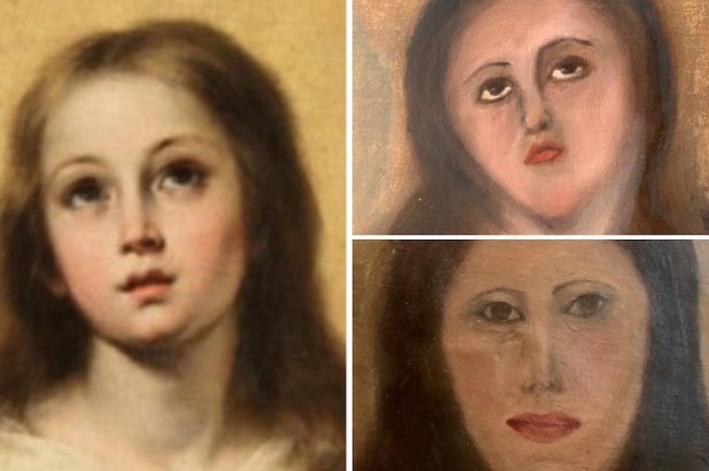 Barok dönem tablosunu tanınmaz hale getirdiler