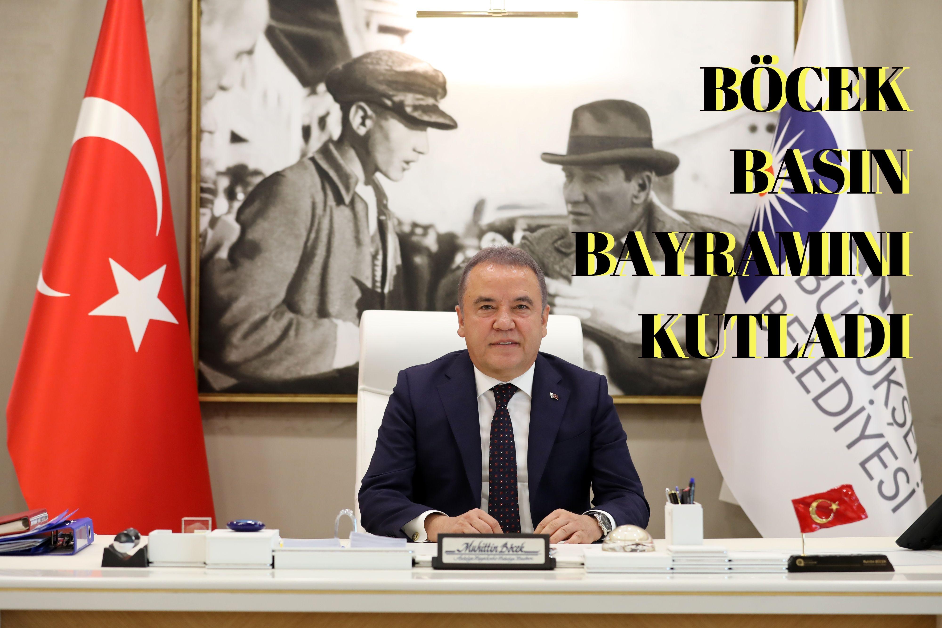 Başkan Böcek, Basın Bayramını kutladı