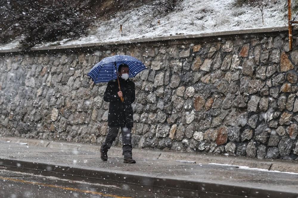 Başkentte kar yağışı etkili oluyor