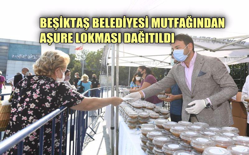 Beşiktaş Belediye Başkanı Akpolat komşularına aşura ikram etti