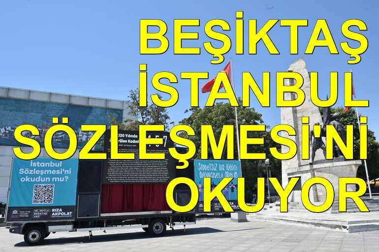 Beşiktaş Belediyesi İstanbul Sözleşmesi'ne dikkat çekiyor