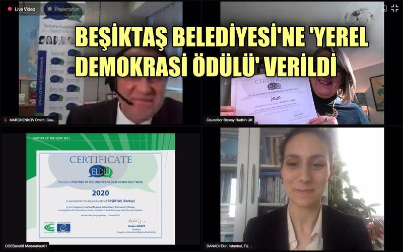Beşiktaş Belediyesi'ne Avrupa Konseyi'nden Yerel Demokrasi ödülü