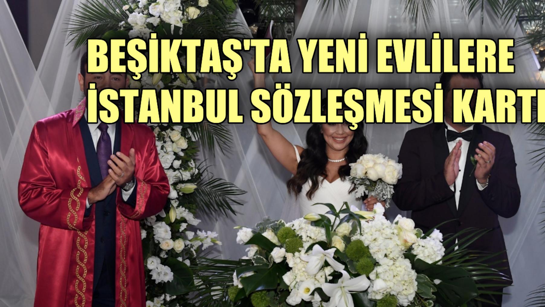 Beşiktaş'ta evlenen çiftlere İstanbul Sözleşmesi kartı