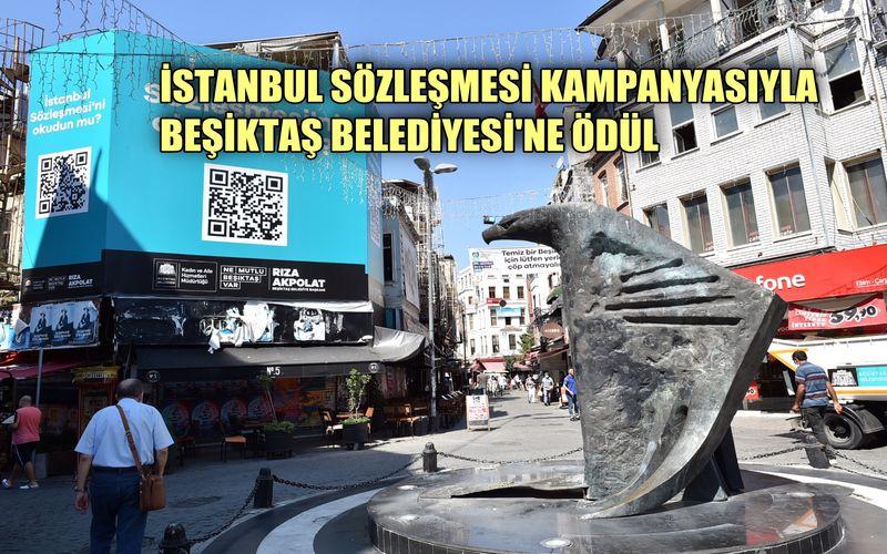 Beşiktaş'taki İstanbul Sözleşmesi projesine ödül