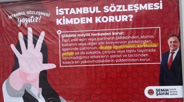 Bilecik Belediye Başkanı Şahin'e İstanbul Sözleşmesi soruşturması