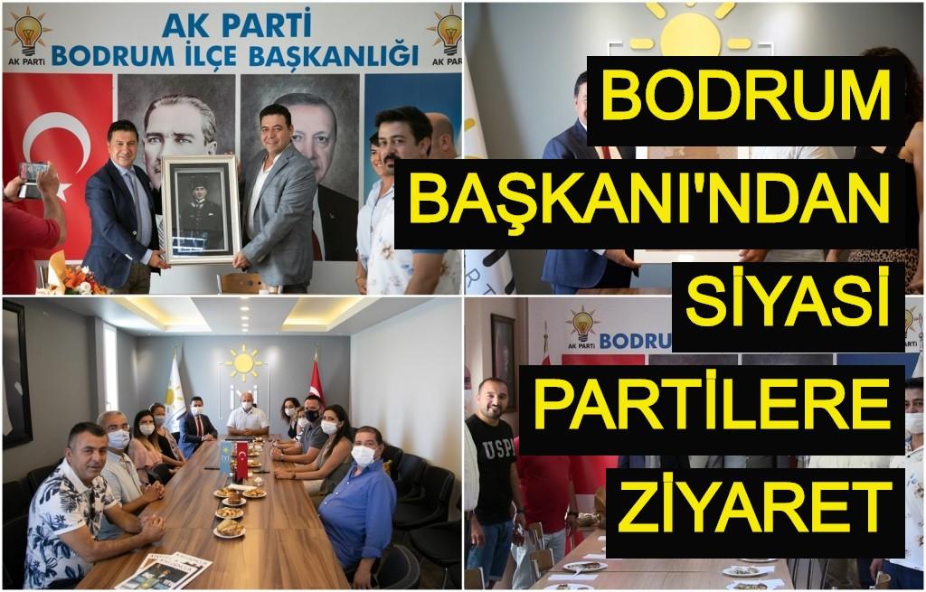 Bodrum Başkanı'ndan siyasi partilere ziyaret