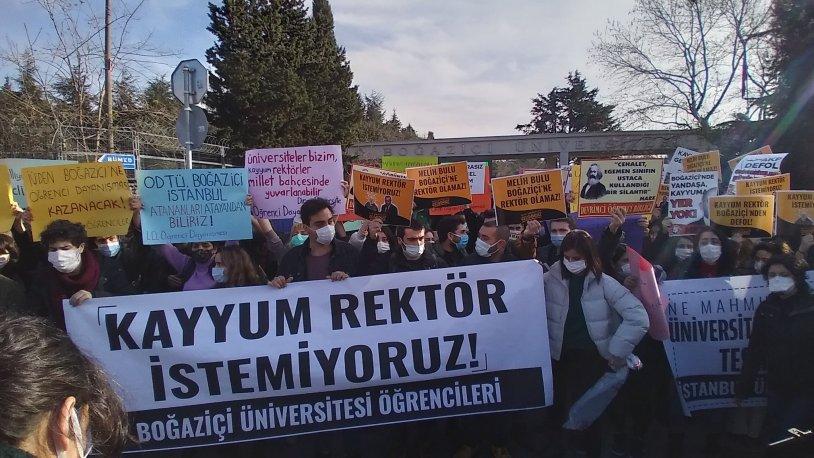 Boğaziçi Üniversitesi'nde rektör protestolarına gözaltı