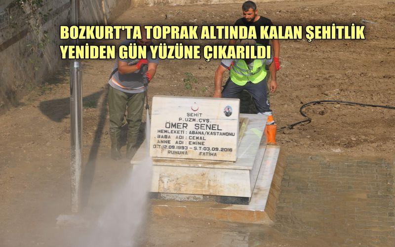 Bozkurt'ta Toprak Altında Kalan Şehitlik, Yeniden Gün Yüzüne Çıkarıldı