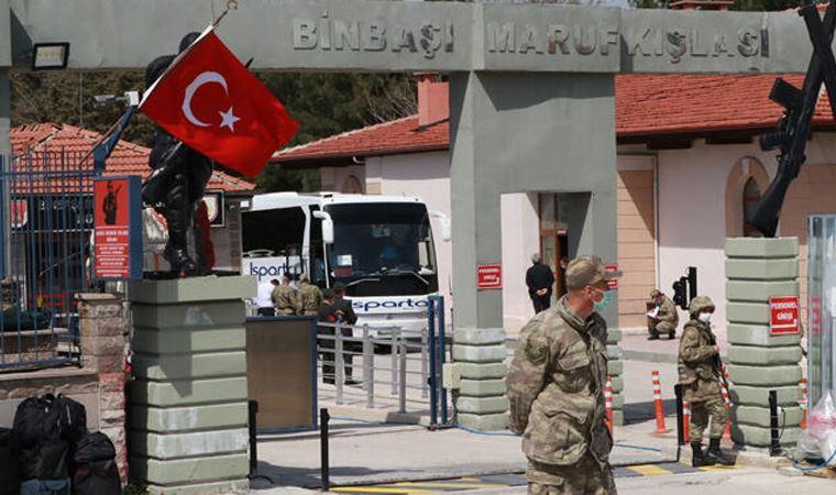 Burdur'da karantinaya alınan asker sayısı arttı