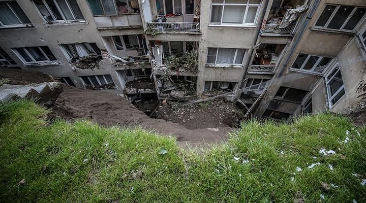 Bursa'da heyelan: 7 bina boşaltıldı