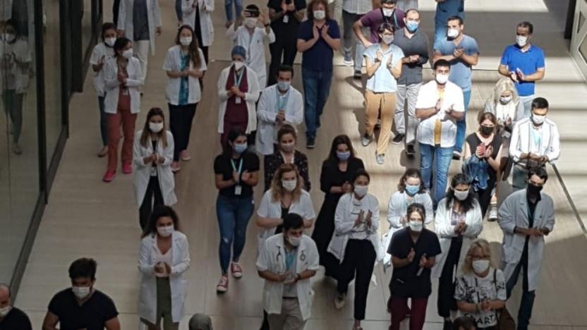 Çam ve Sakura Şehir Hastanesi'nde sağlık emekçilerinin protestoları devam ediyor