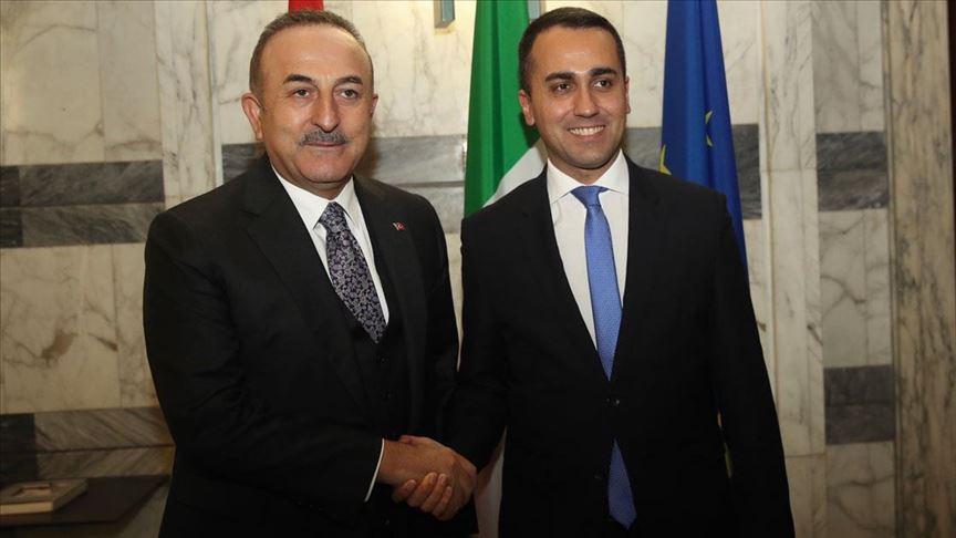Çavuşoğlu, İtalya Dışişleri Bakanı Maio ile görüştü