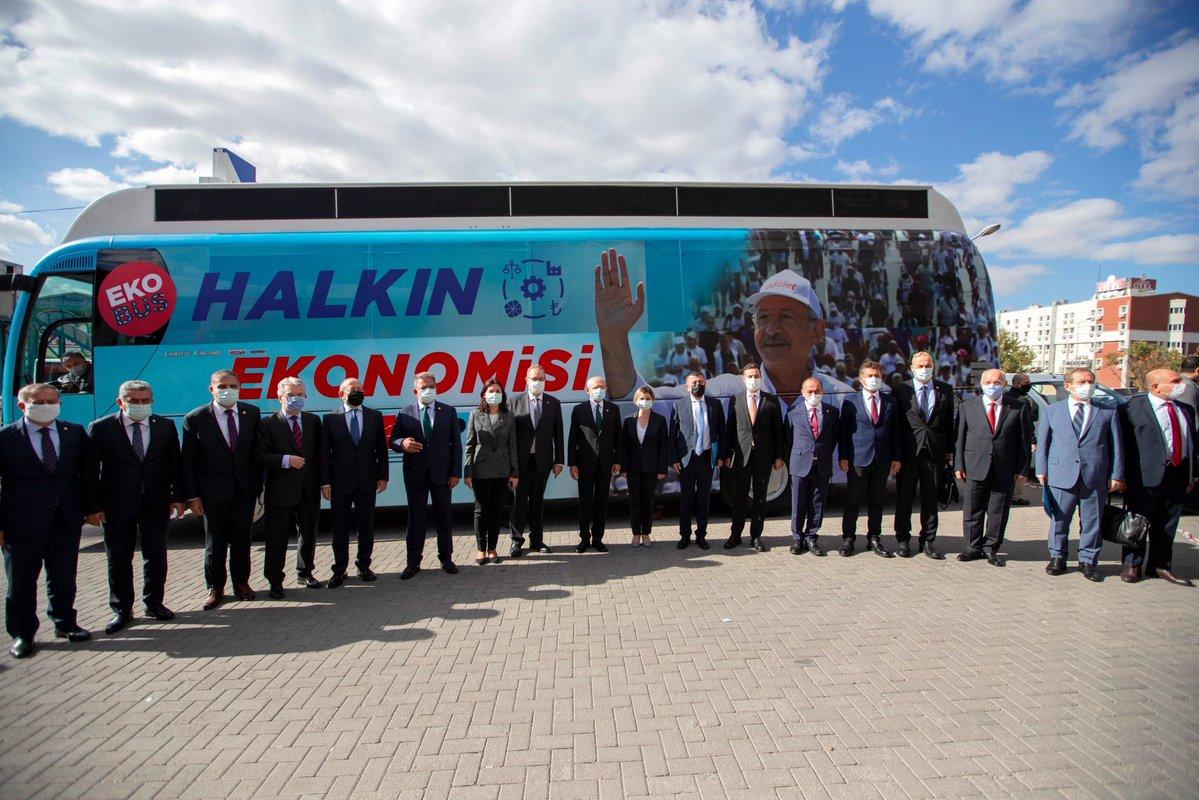 CHP'nin 'ekonomi otobüsü' yola çıkıyor