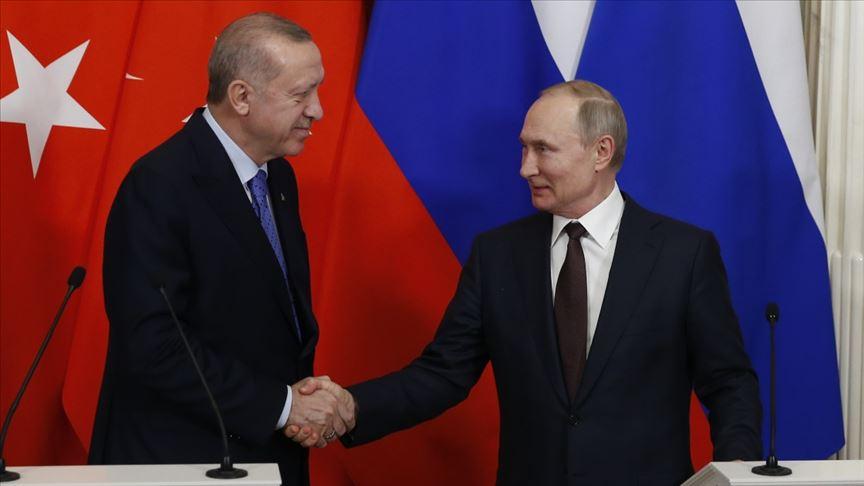 Cumhurbaşkanı Erdoğan, Rusya Devlet Başkanı Putin'le görüştü