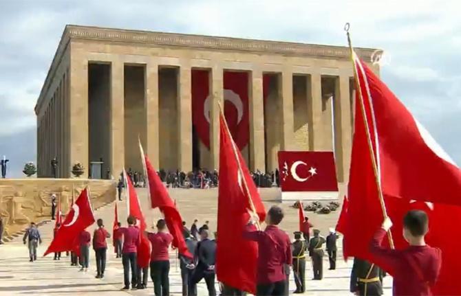 Cumhuriyetin 97. yılında devlet erkanı Anıtkabir'de
