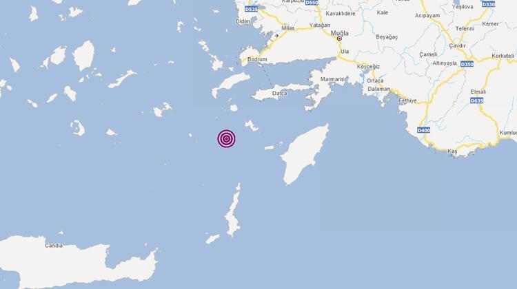 Datça açıklarında 4,9 büyüklüğünde deprem