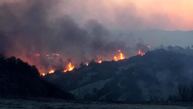 Denizli'nin Buldan ilçesinde bir yangın daha çıktı