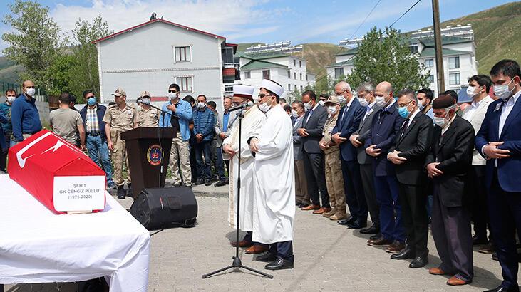Depremde şehit olan güvenlik korucusu için tören düzenlendi