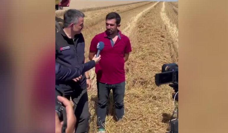 Diyarbakırlı çiftçi, Bakan Pakdemirli'nin Tekirdağlı çiftçi ile sohbetine tepki gösterdi: İzlerken biraz daha utandım