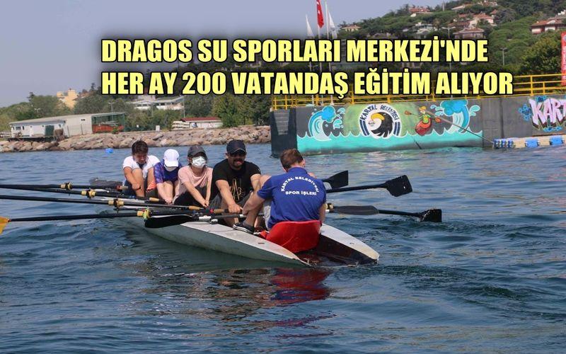 Dragos Su Sporları Merkezi'nde Her Ay 200'ün Üzerinde Vatandaş Eğitim Alıyor