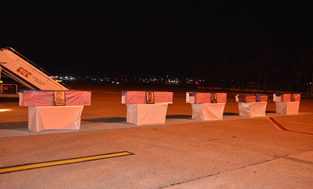 Düşen uçakta yaşamını yitiren 5 Rus için Adana'da tören düzenlendi