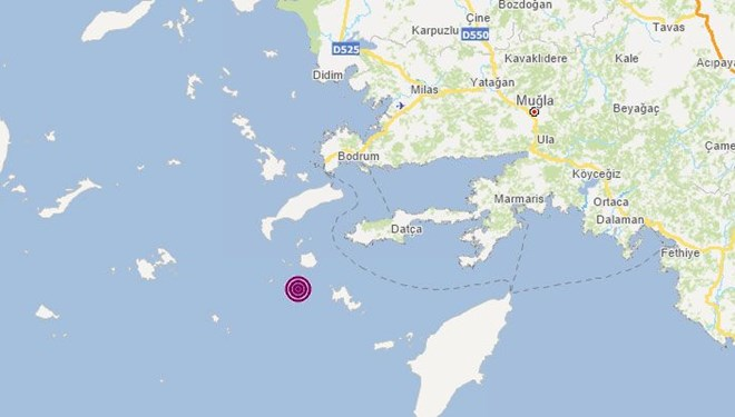 Ege Denizi'nde 4,3 büyüklüğünde deprem