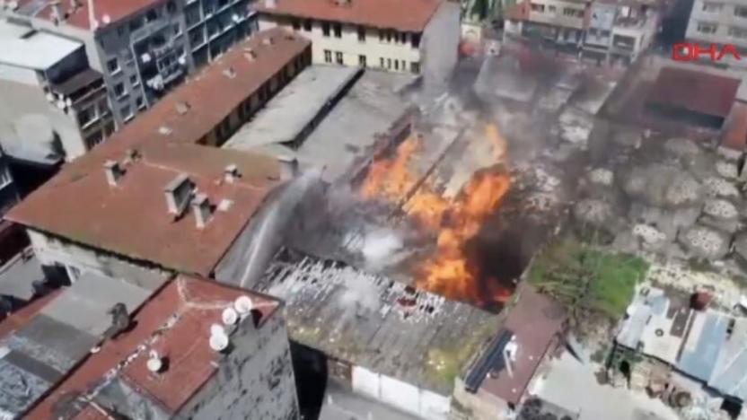 Emniyet'in deposunda yangın ve patlama